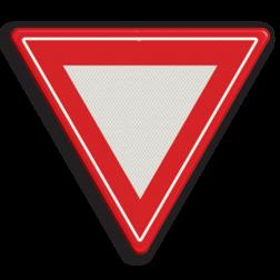 Verkeersbord Verleen voorrang aan de bestuurders op de kruisende weg Verkeersbord RVV B06 - Voorrangskruising - verleen voorrang B06 B07, Kruising, B6, voorrang, verlenen, geven, kruising, kruispunt
