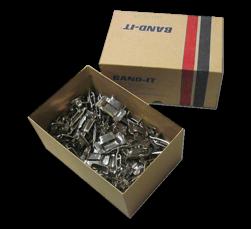 RVS buckels (100 stuks) voor RVS banditband 19mm bevestiging, klemband, bukkels, bandimex, bandklemmen
