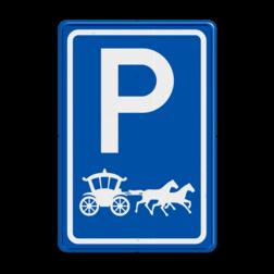 Parkeerbord type E08 - Gouden Koets - Prinsjesdag parkeerplek, parkeerplaats, gouden koets, koning