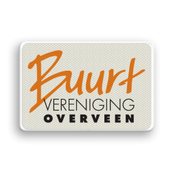Logobord Buurtvereniging Overveen buurtvereniging, logo