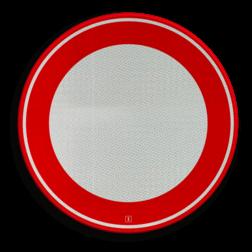 Verkeersbord Gesloten in beide richtingen voor voertuigen, ruiters en geleiders van rij- of trekdieren of vee Verkeersbord RVV C01 - Gesloten voor alle verkeer C01 soepbord, geslotenverklaring, verboden in te rijden, geen toegang, verbodsbord, c1, Gesloten