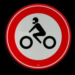 Verkeersbord Gesloten voor motorfietsen Verkeersbord RVV C11 - Gesloten voor motorfietsen C11 verbodsbord, verboden voor motoren, geen motor, verboden, C11, motorfiets, gesloten verklaring