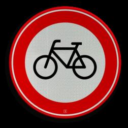 Verkeersbord Gesloten voor fietsers en gehandicaptenvoertuigen zonder motor Verkeersbord RVV C14 - Gesloten voor fietsers C14 verbodsbord, verboden voor fietsen, geen fietsen, verboden, C14, gesloten verklaring, fiets, fietsers, gehandicaptenvoertuigen
