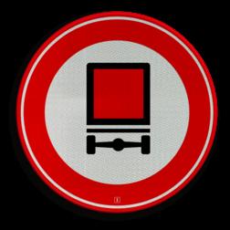Verkeersbord Gesloten voor voertuigen met bepaalde gevaarlijke stoffen. Verkeersbord RVV C22 - Gesloten voor voertuigen gevaarlijke stoffen C22 verbodsbord, verboden, gesloten verklaring, gevaarlijke stoffen