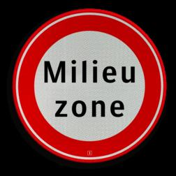Verkeersbord Gesloten voor vrachtauto's die niet voldoen aan de eisen, genoemd in artikel 86d Verkeersbord RVV C22a milieuzone - Begin milieuzone C22a milieuzone, geslotenverklaring, verboden in te rijden, geen toegang, verbodsbord, C22, gesloten, milieu eisen