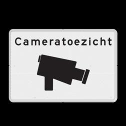 Verkeersbord Cameratoezicht basic - BP03 cameraregistratie, camera, bewaking, eigen terrein, beveiliging, videoregistratie, BP04, Preventie, Toezicht