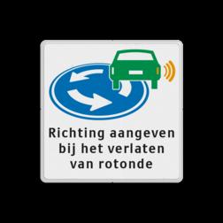 Informatiebord - D01 - Richting aangeven op rotonde rotonde,