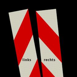Kaderrand 200mm rood/wit klasse 3, zelfklevend AKTIERAAM, obstakellamp, knipperlichten, WIU