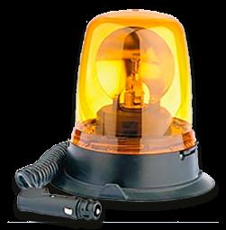Zwaailamp magneetvoet + sig. 12V lamp, alarmlicht, zwaailicht, obstakelverlichting