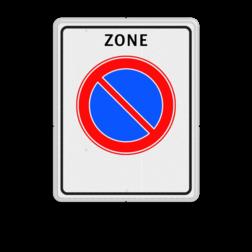 Verkeersbord Start parkeerzone Verkeersbord RVV E01 zb - parkeerzone - Start parkeerzone E01zb zone, E1, e01 parkeerverbodszone bord