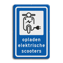 Informatiebord Oplaadpunt elektrische scooter Informatiebord - Oplaadpunt elektrische scooters BE01 elektrische, voertuigen, groene stroom,  BW101, fietslaadpunt, laadpunt, fietsen, oplaadpunt, laadpaal, oplaadpalen, oplaadbaar, ebike, bike, stalling, BE, BE03, scooter, brom, bromfiets, brommer,