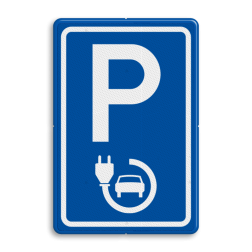 Verkeersbord elektrische auto - België BE04a-België E08, Parkeerbord, parkeerplaats, eigen plaats, parkeren, RVV E04, p bord, BW101 SP19 - autolaadpunt, autolaadpunt, oplaadpalen, oplaadpaal, BE04, elektrisch, Opladen, Laadpaal