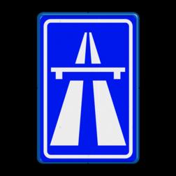 Verkeersbord Autosnelweg Verkeersbord RVV G01 - Autosnelweg G01 snelweg, G1, autosnelweg