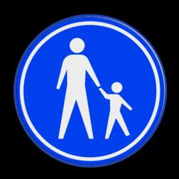 Verkeersbord Voetpad Verkeersbord RVV G07 - Voetpad G07 voetgangers, wandelpad, G7, voetpad