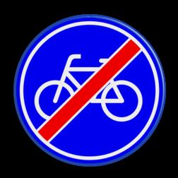 Verkeersbord Einde Fietspad Verkeersbord RVV G12 - Einde Fietspad G12 fiets, einde, G12, einde verplicht fietspad