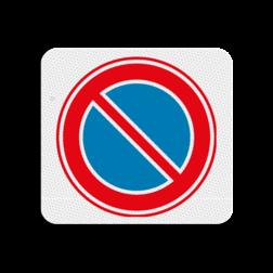 TBV Parkeren verboden 119x109mm - klasse 3 Terreinbord, 119x109, Parkeren, Verboden, E1, E01