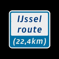 Kanoroutebord 119x109mm met tekst - klasse 3 119x109, Kanoroute, Route, Kano, huisnummerpaal