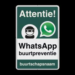 WhatsApp Attentie Buurtpreventie Informatiebord 02 - L209wa-g L209wc Whats App, WhatsApp, watsapp, preventie, attentie, buurt, L209, wijkpreventie, straatpreventie, dorpspreventie