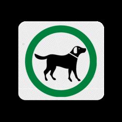 TBH Honden toegestaan 119x109mm - klasse 3 Terreinbord, 119x109, Hond, Honden, Toegestaan