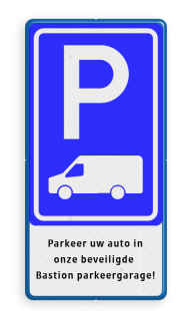 Verkeersbord Parkeerplaats voor transporter bus / Bestelbus Verkeersbord RVV E08p - Busje + tekstregels - BT19 BT19 OB25, geldt alleen voor transporter bus, bus, busje, Transportbus, Transporter, Transporterbusje, Vervoer, Bezorging, BT19, Bestelbus,