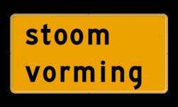 Tekstbord - OB604t - stoom vorming - Werk in uitvoering tijdelijk, geel,