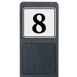 Informatiepaal kunststof inclusief EIGEN ONTWERP - klasse 3 buitengebied, huisnummer, nummer, huis, buiten, gebied, paal, Klassiek, huisnummerbord, Huisnummerpaal, Huisnummerpalen