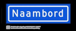 Straatnaambord KOKER 50x15cm - max. 8 karakters - NEN1772 straat, straatnaamborden, naambord, straatbord, kokerbord, NEN, officieel, wegnaam, sign, street, 500, 50