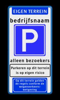 Parkeerbord Banner + tekst + E04 + tekst + 2x picto Parkeerbord, Banner, tekst, E04, 2x picto