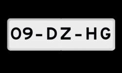 Verkeersbord Onderbord - Kenteken Verkeersbord RVV OB309 - Onderbord - Geldt alleen voor beschreven kenteken OB309 meter, wit bord, OB309, onderbord, kenteken, kentekenbord