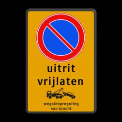 Product Parkeerverbod, eigen tekst + wegsleepregeling Parkeerverbod RVV E01 + eigen tekst + wegsleepregeling parkeerbord, verboden te parkeren, eigen terrein, parkeerverbod, wegsleepregeling, eigen tekst invoeren, E1, fluor
