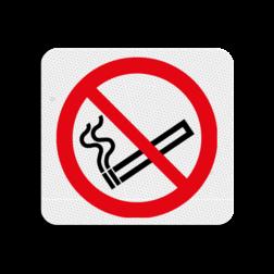 TBW Verboden te roken 119x109mm - klasse 3 Terreinbord, 119x109, Verboden, Roken