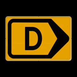 Tekstbord - T201r-d - Werk in uitvoering Tekstbord, WIU bord, tijdelijke verkeersmaatregelen, werk langs de weg, omleidingsborden, tijdelijk bord, werk in uitvoering, gevaarlijk terrein, drijf zand