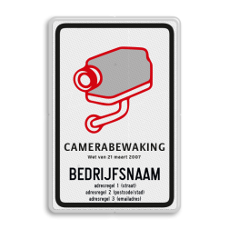 Camerabord CAMERABEWAKING conform Wet van 21 Maart 2007 (België model verplicht) Camerabord Belgë conform Wet van 21 maart 2007 camera, bewaking, belgie, belgisch, verplicht, wet, 21 maart, 2007
