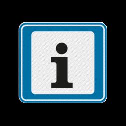 TBB Informatiepunt 119x109mm - klasse 3 Terreinbord, 119x109, BW101, Informatie, Informatiepunt