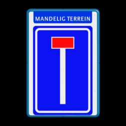 Verkeersbord Banner - Doodlopende weg Verkeersbord RVV L08 - Banner doodlopende weg, l8, versperring, geen doorgang