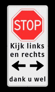 Voorrangsbord Voorrangsbord B07 + tekst + OB0401 + tekst Voorrangsbord B07 - Stoppen voor voorrangsweg + tekst + OB0401 + tekst Voorrangsbord, B07, tekst, OB0401, tekst, Stop, Voorrang, kruising, kruispunt