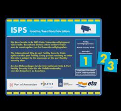 Veiligheidbord 4:3 - ISPS - Security Level + magneetborden priveterrein, eigen tekst, wegenverkeerswet,