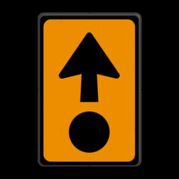 Verkeersbord Uitwijkroute Verkeersbord RVV K14 BW501 parkeerplaats, parkeerplek, routebord, bord met pijl, uitwijkroute, u borden, u-borden