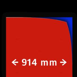 Reflecterende folie kl.1 rood 914mm breed reflex, fluoricerend, reflecterend, retroreflex, retroreflecterend, retro, bordfolie, signface