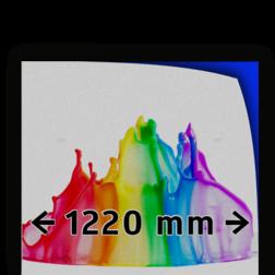Reflecterende folie kl.1 wit  1220mm breed + full-colour opdruk reflex, fluoricerend, reflecterend, retroreflex, retroreflecterend, retro, bordfolie, signface