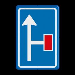 Verkeersbord Voorwaarschuwing doodlopende weg Verkeersbord RVV L09-2r - Doodlopende weg - voorwaarschuwing L09 doodlopende weg, l9, versperring, geen doorgang, L9, geen doorgaande weg, voorwaarschuwing, vooraanduiding