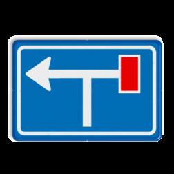 Verkeersbord Voorwaarschuwing doodlopende weg Verkeersbord RVV L09-1rt- Doodlopende weg - voorwaarschuwing L09 doodlopende weg, l9, versperring, geen doorgang, L9, vooraanduiding, voor waarschuwing, geen doorgaande weg
