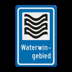 Verkeersbord Waterwingebied Verkeersbord RVV L304b - Waterwingebied L304 Water, Waterwingebied, gebied, rust, rustgebied, natuur, L304e, L304