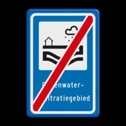 Verkeersbord Einde regenwaterinfiltratiegebied Verkeersbord RVV L307e - Regenwaterinfiltratiegebied - einde L307 Regenwater, Infiltratie, Infiltratiegebied, Regenwaterinfiltratiegebied, gebied, rust, rustgebied, natuur, L307b, L307