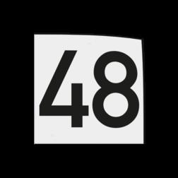 Magneetbordje 120x120x1,5mm wit met zwart cijfer opdruk