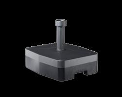 Kunststof verrijdbare voet voor verkeersbordpaal ø48mm (max. 2000mm)