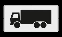 Verkeersbord Onderbord - Geldt alleen voor vrachtauto's Verkeersbord RVV OB11 - Onderbord - Geldt alleen voor vrachtauto's OB11 vrachtwagen, vrachtauto, wit bord, OB11