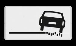 Verkeersbord Onderbord - rechts zachte berm Verkeersbord RVV OB18r - Onderbord - rechts zachte berm OB18 wit bord, OB18r, rechts zachte berm, OB18
