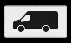 Verkeersbord Onderbord - Geldt alleen voor transporter bus Verkeersbord RVV OB25 - Onderbord - Geldt alleen voor transporter bus OB25 OB25, geldt alleen voor transporter bus, bus, busje, Transportbus, Transporter, Transporterbusje, Vervoer, Bezorging, BT19, Bestelbus, OB66