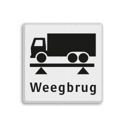 Verkeersbord RVV OBD08 - Weegbrug OBD08 weegbrug, vracht, OBD08, OBD, Vrachtwagen